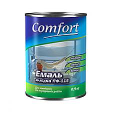 Эмаль  Комфорт ПФ-115 0,9 кг ассортимент цветов