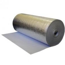 Подложка под ламинат ППЕ 2 мм 1x50 м цвет белый с фольгой