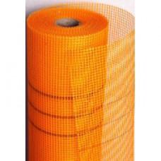 Сітка скловолокниста Fiberglass 160 оранжева (рулон 50 м.п.)