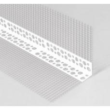 Угол перфорированный 3м.с сеткой пластик